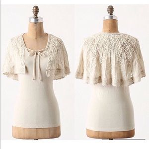 Deletta Anthropologie With Wings Top Lace Cape Sm.